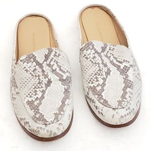"Banana Republic Leather ""Snakeskin"" Loafers Size 8"